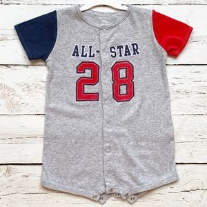 Carter's Boys 18 mo All Star 2 Button Front Romper